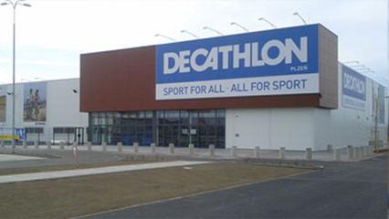 Výstavba haly Decathlon Plzeň